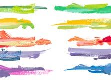 färgmålarfärgset stock illustrationer