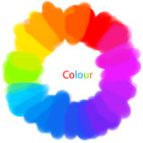 färgmålningshjul Arkivbild