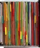 Färgmappar arkivbild