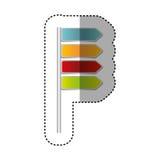 färgmeddelanden av den tippade ruttsymbolen vektor illustrationer