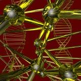 Färgmodell av atomen vektor illustrationer