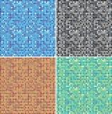 färgmosaik stock illustrationer