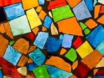 färgmosaik Arkivfoton