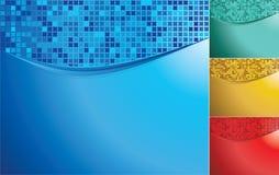 färgmosaikwaves royaltyfri illustrationer