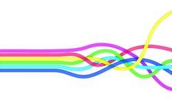 Färgmusikband Arkivbild