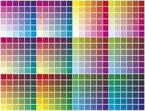 färgpalett Fotografering för Bildbyråer