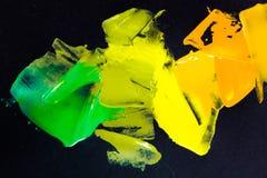 Färgpalett för olje- målarfärg Royaltyfria Bilder