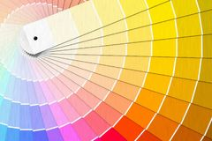 Färgpalett - handbok av målarfärgprövkopior framförd illustration 3d vektor illustrationer