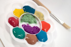 färgpalettregnbåge Fotografering för Bildbyråer