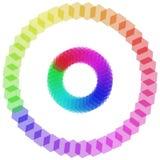 färgpalettregnbåge Arkivfoton