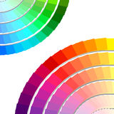 färgpalettspectrum Arkivfoto