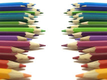 Färgpennabakgrund arkivbild