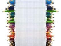 Färgpennabakgrund royaltyfria foton