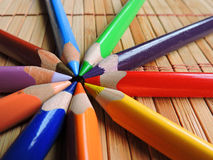 Färgpennacirkel Royaltyfri Bild