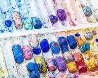 Färgpennafärgmagasin fotografering för bildbyråer