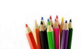Färgpennaspetsar Arkivbilder