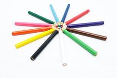 Färgpennor arkivfoto