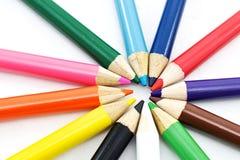 Färgpennor arkivfoton
