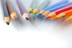 Färgpennor royaltyfri fotografi