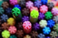 färgpennor Royaltyfri Foto
