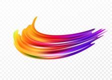 Färgpenseldragolja eller beståndsdel för design för akrylmålarfärg för presentationer, reklamblad, broschyrer, vykort och affisch stock illustrationer