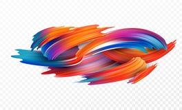Färgpenseldragolja eller beståndsdel för design för akrylmålarfärg för presentationer, reklamblad, broschyrer, vykort och affisch royaltyfri illustrationer