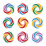 Färgpiruettcirklar vektor illustrationer