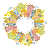 färgplanet Royaltyfri Fotografi