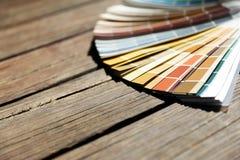 Färgprövkopior för designprojekt Arkivfoton