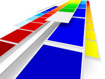 färgprinting vektor illustrationer