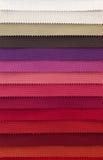 Färgprovkarta av tygtextiler Arkivbild