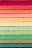 Färgprovkarta av tygtextiler Arkivbilder