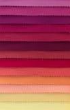 Färgprovkarta av tygtextiler Arkivfoton