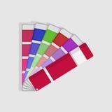 Färgprovkartapalett vektor illustrationer