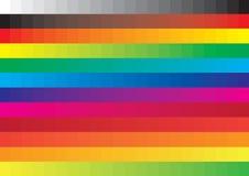 färgprovkartavektor Arkivbilder