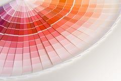 färgprovkartor Fotografering för Bildbyråer