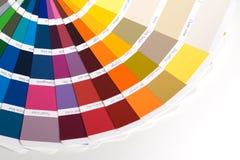 färgprovkartor Arkivfoto