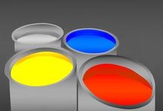 färgpulver Arkivbilder