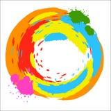 Färgpulver för beståndsdelen för vektorrundadesignen plaskar ljust kulört Arkivbild