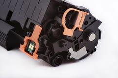 Färgpulver för den återanvända laserskrivaren Arkivfoto