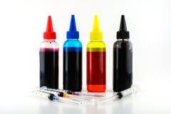 Färgpulver för skrivare Royaltyfri Foto