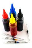 Färgpulver för skrivare Arkivfoto