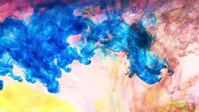 Färgpulver i vatten lager videofilmer