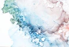 Färgpulver målarfärg, abstrakt begrepp royaltyfria foton