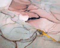 Färgpulver målarfärg, abstrakt begrepp Closeup av målningen Färgrik abstrakt målningbakgrund Hög-texturerad olje- målarfärg Högkv fotografering för bildbyråer