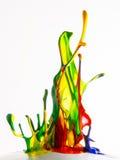 Färgpulver plaskar Arkivbild