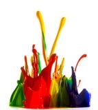 Färgpulver plaskar Arkivfoton