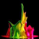 Färgpulver plaskar Royaltyfri Fotografi
