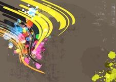 Färgpulverabstrakt begrepp med grungebakgrund Royaltyfria Foton