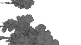 FÄRGPULVERBAKGRUND FÖR COMPOSITING GRÅ FÄRGRÖK eller FÄRGPULVER I VATTENSERIE Vattenfärg som tappas i vatten på vit bakgrund vektor illustrationer